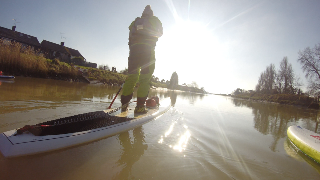 Paddle boarding on the River Arun